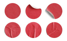 Red Round Stickers