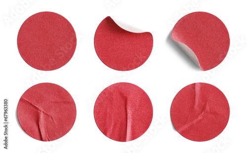 Valokuva Red Round Stickers