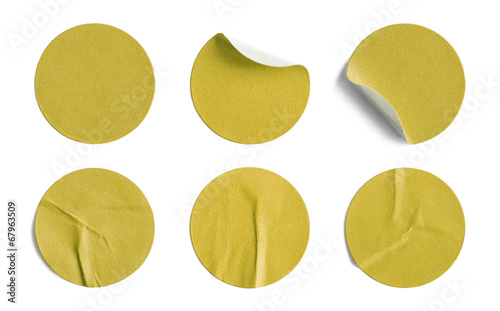 Yellow Round Stickers