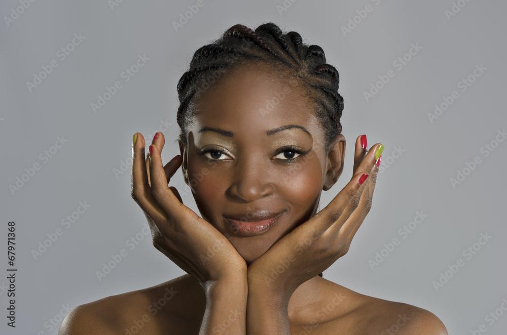 Fototapety, obrazy: Beautiful African Woman Portrait