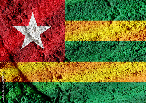 Fototapete - Togo flag themes idea design