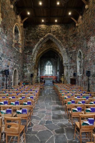 Canvas-taulu Iona, the nave of the Abbey church