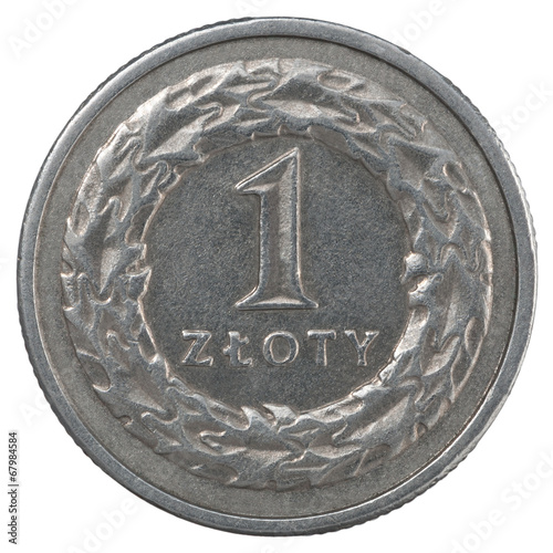 Fotografía  One Polish Zloty coin