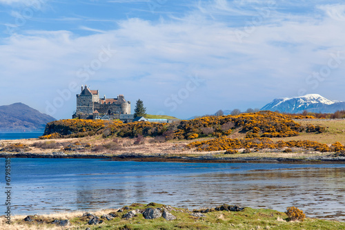 Foto op Canvas Kasteel Duart Castle, scenery of Mull island