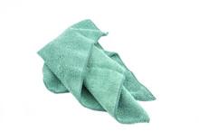 Crumpled Green Microfiber Clot...