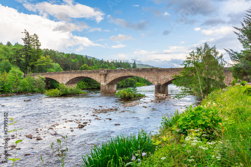 Old Bridge at Ballater #2, Cairngorms NP, Scotland Fototapet