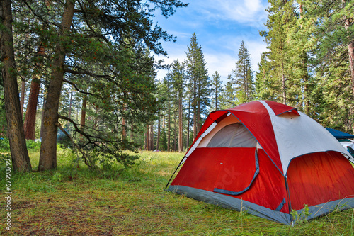 Foto op Canvas Kamperen Camping