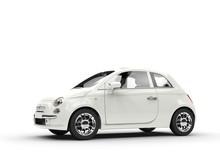 Small Economic White Car