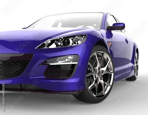 Foto op Canvas Cars Purple car extreme close-up