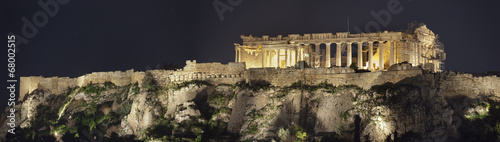 Poster Athene Acropolis of Athens.Night shot.Panorama.