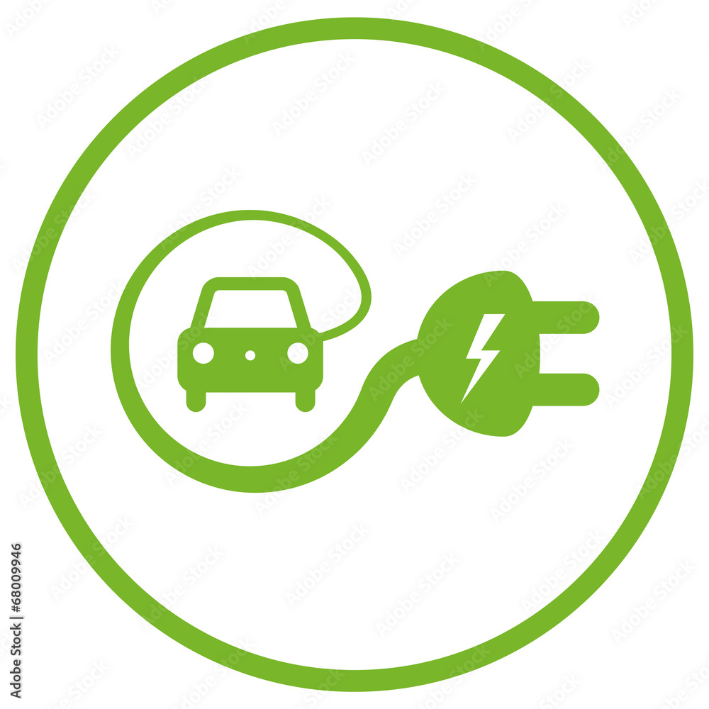 Electric Car Icon Foto Poster Wandbilder Bei Europosters