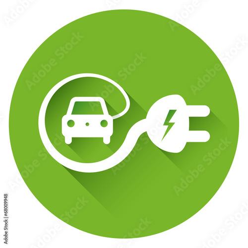 Photo  Electric car icon