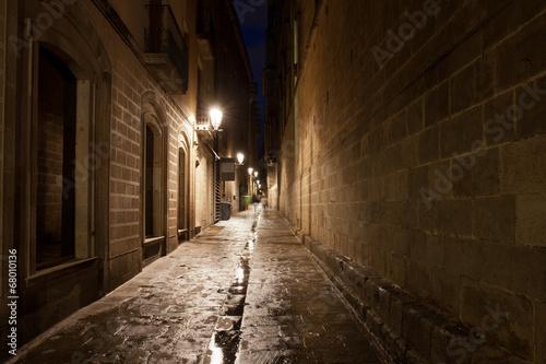 Poster Smal steegje Gothic Quarter of Barcelona