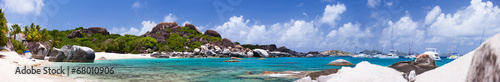 Foto op Plexiglas Caraïben Beautiful tropical beach at Caribbean