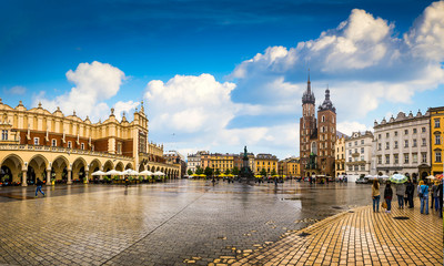 Fototapeta Architektura Krakow - Poland's historic center, a city with ancient