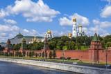 Fototapeta Big Ben - Moscow, Russia. View of the Kremlin and Kremlevskaya Embankment