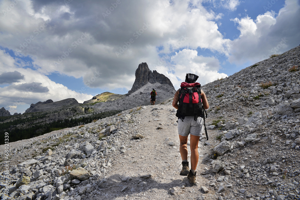 Fototapety, obrazy: Trekking on the alps