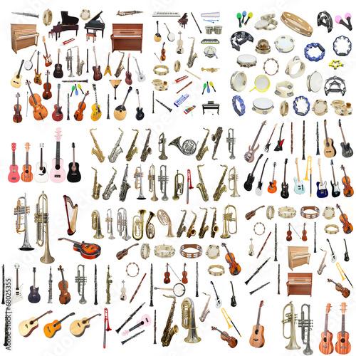 Cuadros en Lienzo Different music instruments