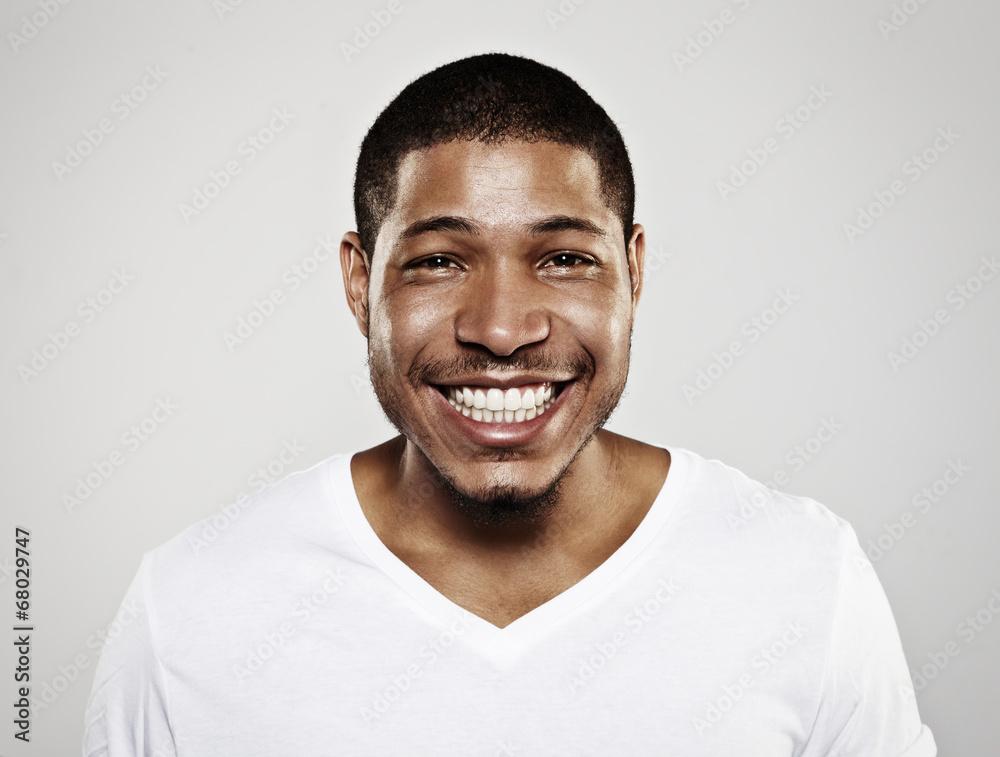 Fototapeta portrait of a smiling young man