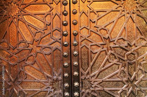 Poster Maroc Arabic pattern on the doors