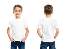 White T-shirt On A Young Man I...