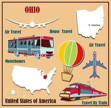 Flat Map Of Ohio For Air Trave...