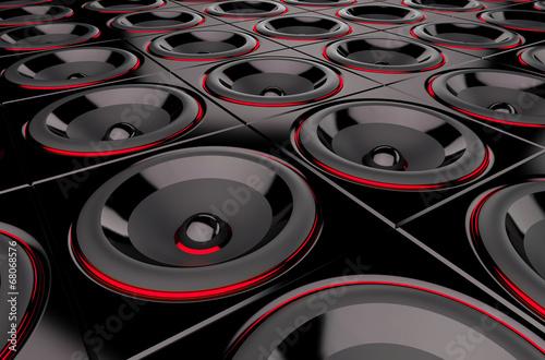 czarno-czerwone-glosniki-3d