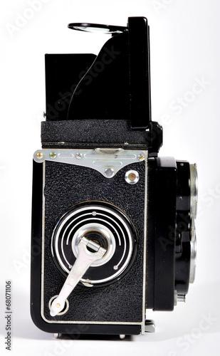 Photo  A vintage 1950's Yashica-Mat twin-lens-reflex camera.