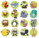 Fototapeta Fototapety na ścianę do pokoju dziecięcego - Vector illustration of Animals set Cartoon