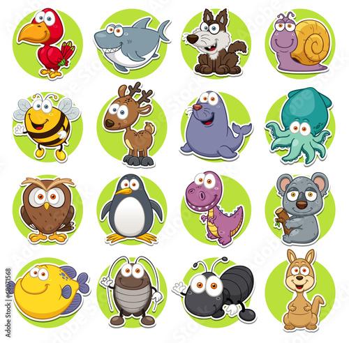 Photo  Vector illustration of Animals set Cartoon