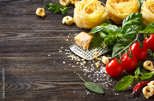 Poster Eten Italian food ingredients.