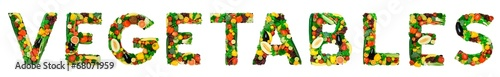 Deurstickers Verse groenten Healthy alphabet - VEGETABLES