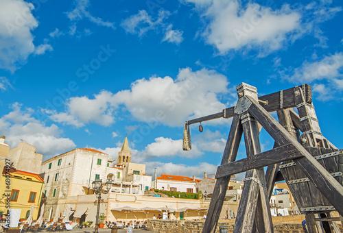 Fotografía  catapult in Alghero