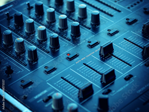 Fotografie, Tablou  Closeup of dj controller - selective focus