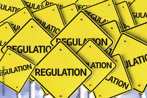 Fotografía  Regulation written on multiple road sign