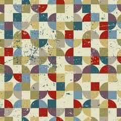 FototapetaVintage tiles with grunge texture seamless background, vector