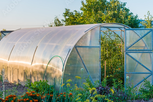 Photo arched greenhouse