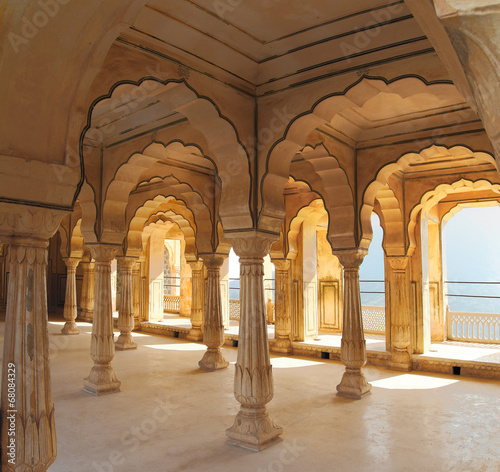 Fototapety, obrazy: columns in palace - Jaipur India