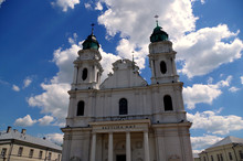 Chełm Catholic Cathedral Near Lublin In Poland