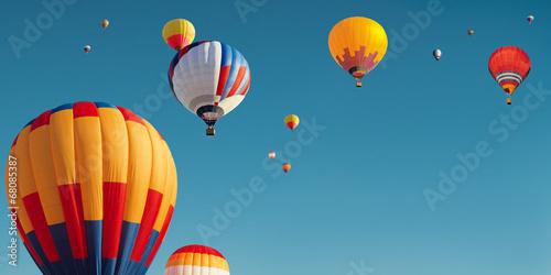 Photo sur Aluminium Montgolfière / Dirigeable many balloons