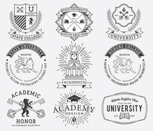 College And University Badges ...