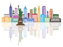 New York City Skyline Color Ve...