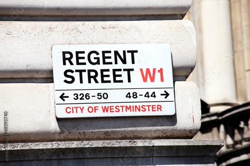 Photo  Regent Street sign