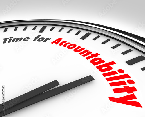 Photo Time for Accountability Words Clock Take Responsibility