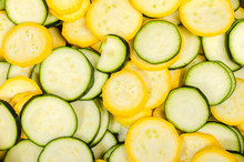 Fresh Slices Of Summer Squash