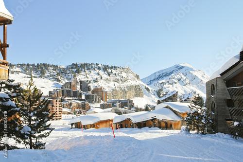 cityscape of Avoriaz town in Alp, France Fototapet