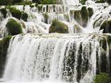 cascade of waterfall in Kornati region, Dalmatia