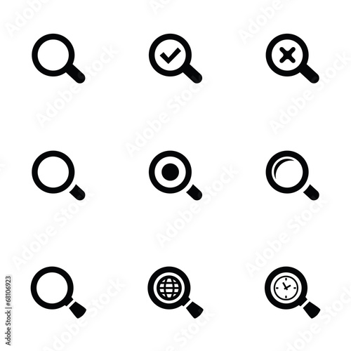 Stampa su Tela  search icons set
