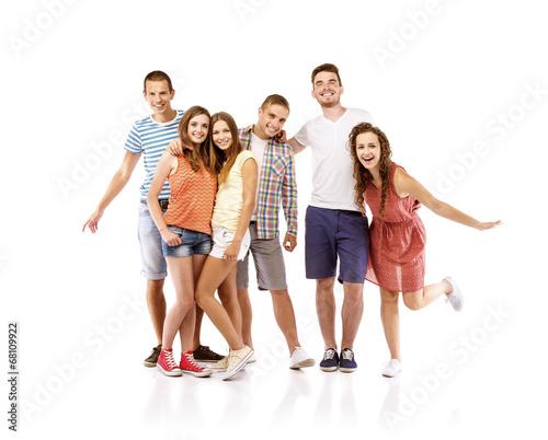 Fototapety, obrazy: Group of happy students