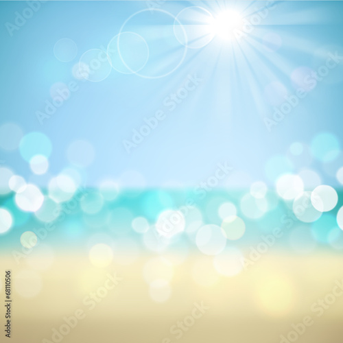 Photo  Summer holiday tropical beach background
